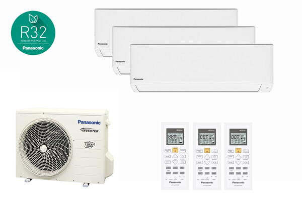 Panasonic med 3 indedele-Multi